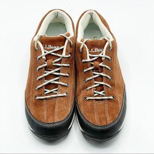 L.L. Bean Beansport Lace Up Suede Sneaker Shoe